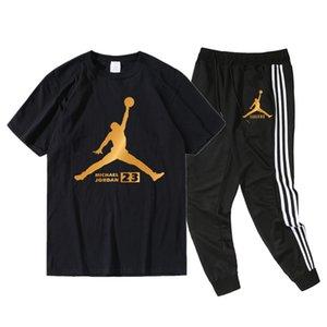 Jordån mens designer t shirts nipsey Designer Mens Tracksuits Printed Tshirts Pencil Pants 2pcs Sets Teenager Sports Suits