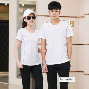 Summer Speed Dry Couple Short Sleeve T Shirt Crewneck Sweatshirt Half Sleeve Thin Section Sportswear Polo Shirt Group Purchase Clothing