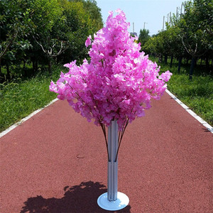 New Arrival Cherry Blossoms Tree Road Leads Wedding Runner Aisle Column Shopping Malls Opened Door Decoration Stands free shipping
