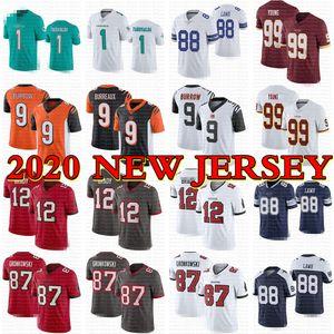 2020 yeni formaları 1 Tua Tagovailoa 9 Joe Burrow 12 Tom Brady 87 Rob Gronkowski 88 CeeDee Kuzu 99 Chase Genç forması