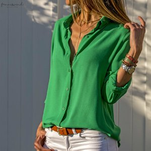 Chiffon Blouse Oversized Long Sleeve Women Blouses Tops Turn Down Collar Solid Office Shirt Top Blusas Plus Size 8Xl 7Xl