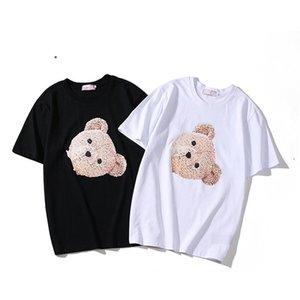 Мужские Стилисты Футболка Мода Медведь Mens Печать Стилист Короткие рукава Черный Белый Высокое качество Мужчины Женщины Хип-хоп Тис