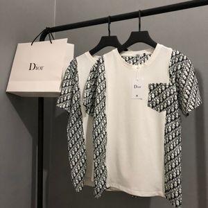 Stitching T-shirt 2020 fashion brands mens designer tshirt womens clothes short sleeve tee M-XL