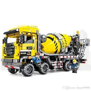 143pcs Technic автобетоносмесителей Строительные блоки Contruction Engineering крановые Транспорт Кирпичи Развивающие игрушки подарок для детей