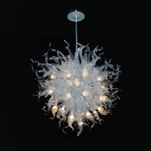 Europeu Bola Pendant Light Modern vidro fundido Led Chandelier Luxo Indoor Lighting Living Room Chandelier Lamp Hall Hotel