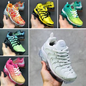 2019 Chaussures Tn Kids Running Sports Shoes Infant boys girls tn plus ultra KUP OG White Black Jogging Sneakers Basketball Tns Zapatillaes
