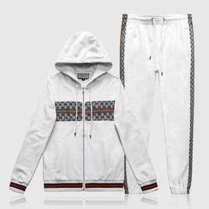 US EU Big Size Men Set Winter Tracksuit Set Hooded Sweat Suits Mens Sweatshirt+sweatpants Workout Track Suit Fleece Jacket+pants