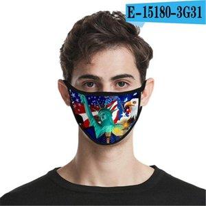 Boca lavável Mask envio reutilizável Cotton Design Cara er Designer face linho Máscara # O7LT