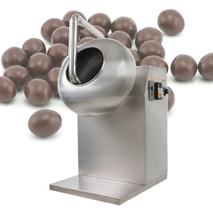 CE qui vend des chocolats multifonctions d'amande glaçage Enrobeuse bonbons d'arachide de revêtement écrou plat / bonbons machine à polir le revêtement