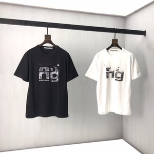 Summer 2020 new short sleeve T-shirt for men and women couples retro loose versatile color black and white S-XXL 600