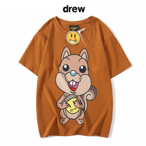 Drew House Squirrel Tee Justin Bieber the same squirrel nut print short sleeve T-shirt men and women couples