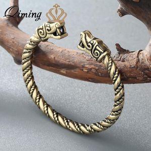 Qiming Wikinger Wolf Männer Armbänder für Frauen Mann Zubehör Viking-Armband-Armband-Stulpe-Armband-Armbänder Teen Wolf