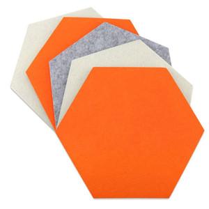 Пользовательский Войлок Цвет самоклеющейся-Board стены наклейки Сообщения Декоративные Хранение Круглой площадь шестиугольник настроить любой шаблон и форму