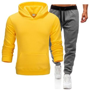 Pullover Sets Men Tracksuits 2020 Casual Hoodies Pants Mens Sportswear Pant Hoody Sweatshirt Male Suits Jogging Sweatpant 2 Pcs