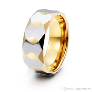 Hip Hop Tungsten Steel Zircon Ring Gold Shiny Couples Ring For Hip Hop Jewelry Hot Sale And Popular Style