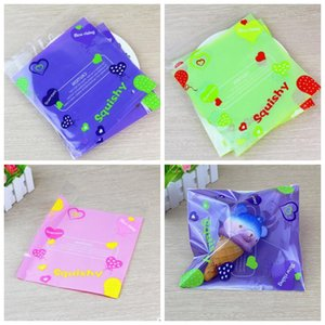 Squishy Retail Bags Soft Slow Bread Packing Bag Fashion Boutique bag for Unicorn Cake Squishies Retailer Supplies 100pcs 1 lot YW683