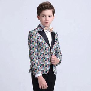 Notched Lapel Boy Suits One Button Wedding Suits Children Party Tuxedos boys Smoking blazer (jacket+pant) N1de#