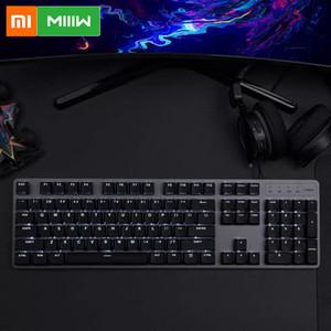 Xiaomi MIIIW 600K Механическая клавиатура Gaming Keyboard подсветкой 104Key Kailh красный переключатель USB Проводная клавиатура Set
