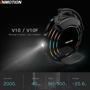 INMOTION V10 / V10F самобалансировани колеса Scooter Электрический Моноцикл 2000W Встроенный ручки ховерборда с декоративными Лампы