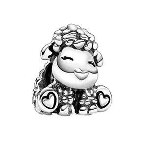 الجديدة 925 الفضة الاسترليني الخرز باتي الخراف سحر مناسبة لالأصلي باندورا الأغنام قلادة سوار سيدة DIY مجوهرات الحيوان حلية