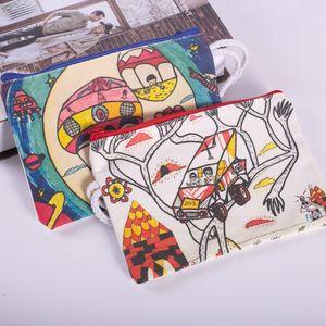 zip file pen cotton bag pocket pocket coin wallet canvas purse canvas bag print advertisement
