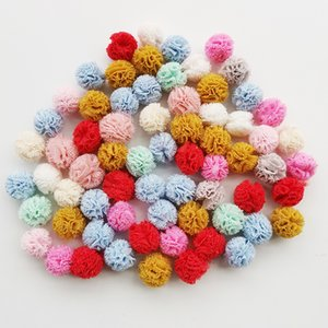100pcs lot 15mm 10colors mesh flower ball For sewing on Scarf Shoes Hats Fur DIY Crafts Hair clip Accessories