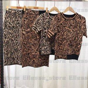 + Etek Suit Markalar Etekler Suit Seksi Parti Luxe Slim Fit Elbise Kadınlar giyim 2 Adet Set 2020 Tasarımcı Bayan İki Adet Kıyafetler Gömlek
