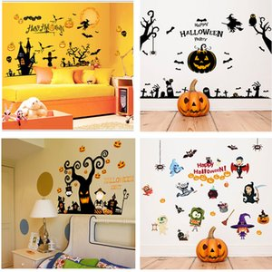 3D Halloween Wall Stickers Home Decoration Remove Life Waterproof Paper Wall Decals For Kids Adult Living Room 60*90cm 6 styles HH7-1673