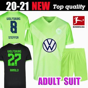 20 21 VfL Wolfsburg Soccer jerseys Adult suit WEGHORST 2020 2021 MEN STEFFEN BREKALO Football Shirt ARNOLD XAVER Jersey