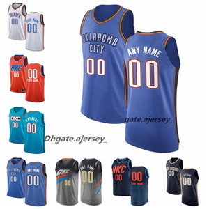 OklahomaVilleTonnerres 2020 Hommes Jawun Evans Darius Bazley Grant Markieff Morris Adams Schroder Westbrook George Basketball Jersey