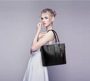 Las mujeres empaqueta los bolsos de lujo diseñador 2020 de la mano de las señoras grandes para las mujeres bolsa de hombro sólido bolsa Outlet Europa bolso de cuero