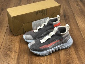 New Space Hippie 02 Vast Grey Hyper Crimson Trash Transformed Grey Orange Mens Running Shoes men womens sports Sneakers Sports Trainers US11