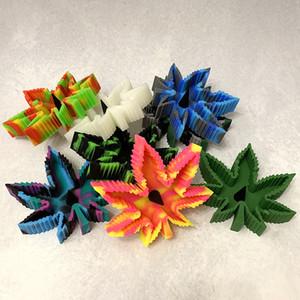 액세서리 홈 재떨이 흡연 애쉬 홀더 케이스 다채로운 패턴 홈 오피스 탁상 선물 담배 재떨이 잎 모양 실리콘