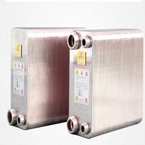80 Placas soldadas trocador de calor Beer Wort Chiller Refrigerador Início Brewing Beer soldadas placa de tipo aquecedor de água SUS304 txbM #