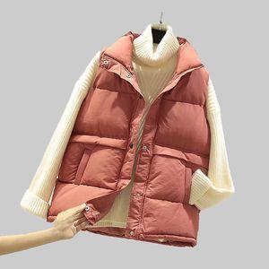 Women Sleeveless Waistcoat New Autumn Winter Warm Slim Zipper Cotton Padded Jacket Female Short Coat Veats Parkas Outwear