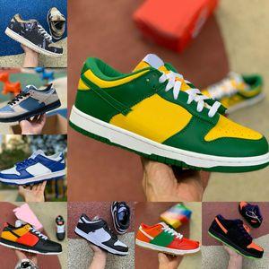Новый Dunk SB Low TRD QS Raygun Бразилия Tie Dye Белый Голубь Dunks Cement Мужчины Женщины Повседневная обувь Travis Коренастый Скоттс Стилист Спорт Sneaker
