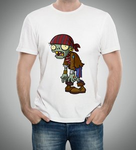 Summer Men t shirts plants vs zombies clothing pvz cartoon game pattern boys clothes O-Neck short girls T-shirt