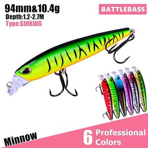 Minnow Fishing Bait 9.4CM-10.4G Diving 1.2-2.7M Hot Sale Fishing Lure Pesca Plastic Crank Bait Fishing Tackle