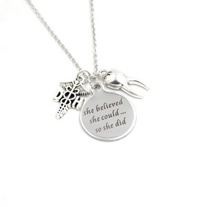 New Arrival Stainless Steel Necklace Dentist Necklace teeth pendant Necklace Dentist Gifts