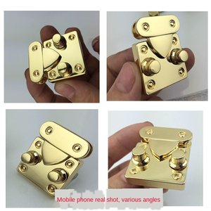 YQoJQ High-end luggage Premium die luggage die-casting environmental protec lock real gold small organ lock 35*30 zinc alloy die-casting env