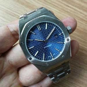 La meilleure qualité SSS Montres-bracelets Royal Oak Mode Classique Mouvement automatique en acier inoxydable Mens Watch Montres Hommes