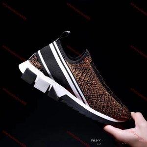 Chaussures Dolce Gabbana Алмазная повседневная обувь Люди Lusso progettista кожи кристалла женщина Спортивной обувь платформа мода PCV толстая дно AlphabeticTravel обувь 34-45