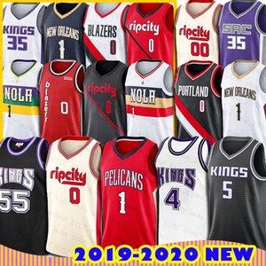 Nueva Orleans Sion Williamson Jersey Pelícanos Portland Damian Lillard Baloncesto Trail Blazers Carmelo Anthony Jason Williams Sacramento Rey