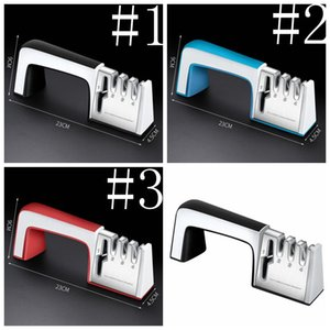 Sharpeners 4 In 1 Knife Scissor Sharpener Alloy and Ceramic Portable Wear Resistant Whetstone with Handle Grindstone Kitchen Supplies LSK305