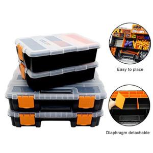 Large Toolbox Organizer Household Maintenance Electrician Tool Storage Box Multifunctional ABS Hardware Car Repair Anti-fall Box