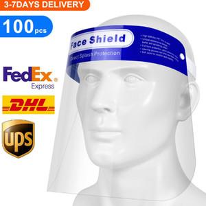 US SOCK Effacer Full Face Shield Protecteur transparent de sécurité à usage unique en plastique respirant Masque intégral pour les hommes et les femmes