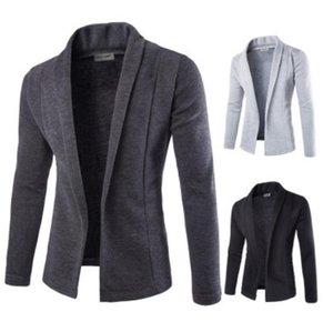 ZOGAA Casual Hommes Blazer Guys garçons à manches longues couleur unie Manteaux Blazer Casual Male officiel Mode Slim Fit Veste 2020