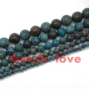 """Free Shipping Natural Stone Blue Crazy Lace Agate Loose Spacer Beads4 6 8 10 12mm Strand 15""""Diy Bracelet Jewelry Making-F00271 jewelry"""