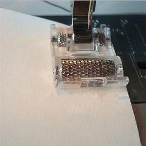 Pelle Macchine attacco basso Roller piedino per Snap Singer Fratello Janome Sewing Machine fai da te Abbigliamento Accessori di cucito tessuto NUOVO