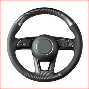 Custom Made Anti Slip DIY Carbon Fiber Steering Wheel Cover for Audi A1 Sportback A3 8V A4 B9